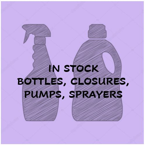 In Stock Bottles, Closures, Pumps & Sprayers